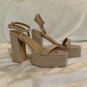 Platform strap heels